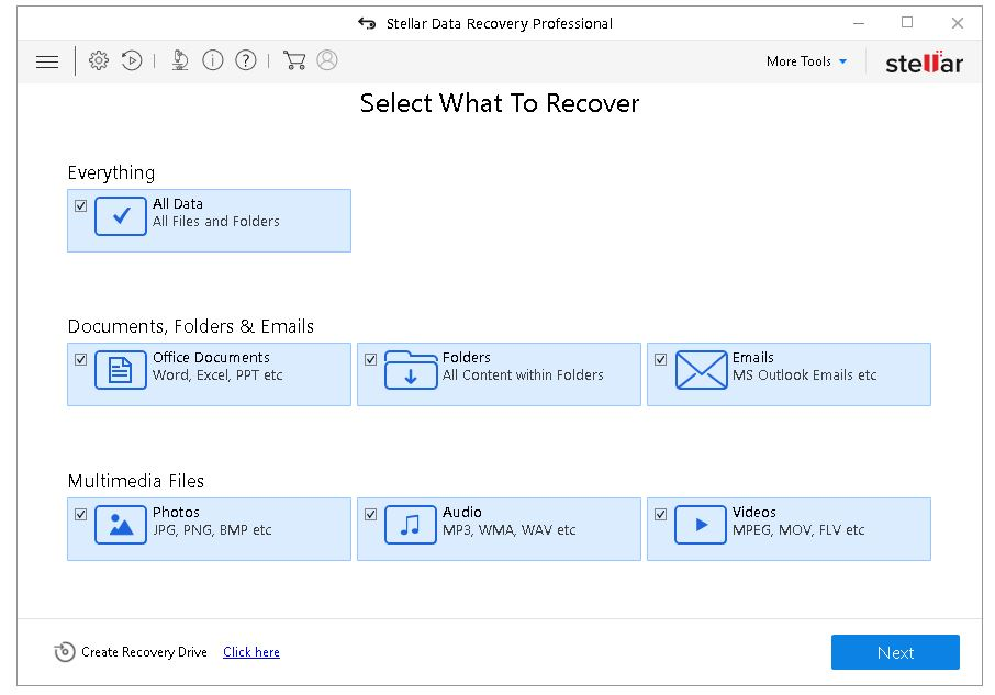 stellar data recovery key